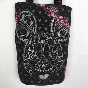 Disney Mickey Mouse Tote Bag Black And Hot Pink